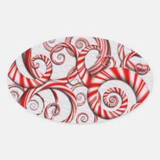 Abstrakte - Spiralen - Pfefferminz-Träume Sticker