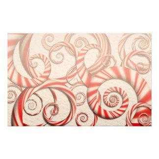 Abstrakte - Spiralen - Pfefferminz-Träume Individuelles Druckpapier