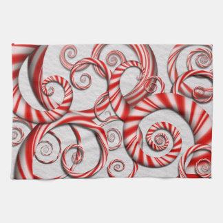 Abstrakte - Spiralen - Pfefferminz-Träume Küchenhandtuch