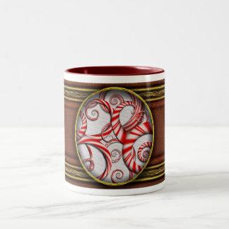 Abstrakte - Spiralen - Pfefferminz-Träume Tee Tasse