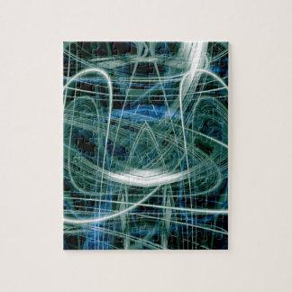 Abstrakte Spuren des grünen Lichtes Puzzle