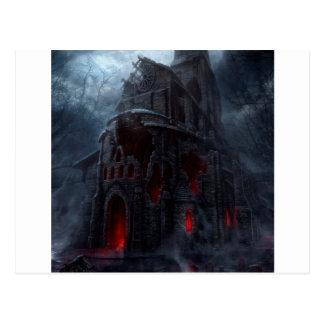 Abstrakte Stadtvampire-Mühle Postkarte