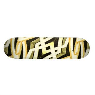 Abstrakte Stammes- Art-geometrisches Muster 19,7 Cm Skateboard Deck