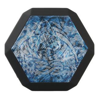 Abstrakte Stammes- Graffiti-Digital-Kunst, -BLAU Schwarze Bluetooth Lautsprecher