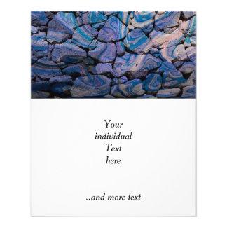 abstrakte Steine blau Flyers