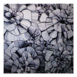 Abstrakte Stift-Kunst des Blumen-Plakats Poster