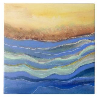 Abstrakte Strand-Keramik-Fliese Keramikfliese