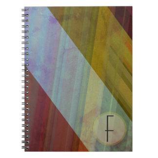 Abstrakte Streifen/Monogramm Notizblock
