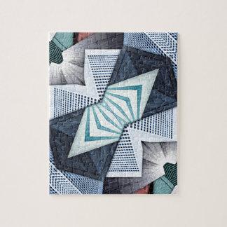 Abstrakte strukturelle Collage Puzzle