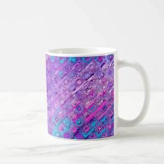 Abstrakte strukturierte Colorfull lila Kaffeetasse