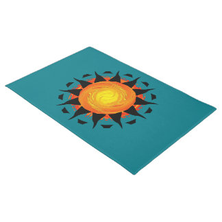 Abstrakte Sun-Blume Türmatte