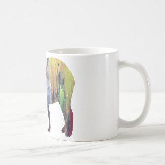 Abstrakte Tapir-Silhouette Tasse