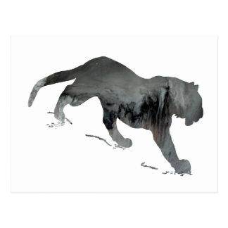 Abstrakte Tiger-Silhouette Postkarten