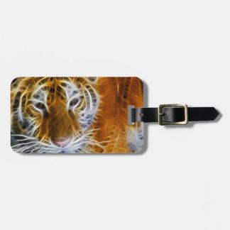 Abstrakte Tigerporträt-Fraktalkunst Kofferanhänger