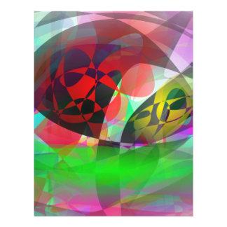 Abstrakte totalkunst vollfarbige flyer