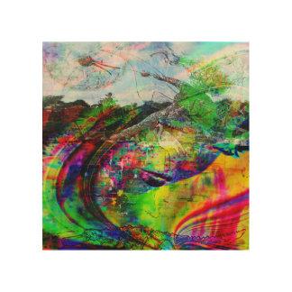 Abstrakte tropische Fantasie Holzdruck