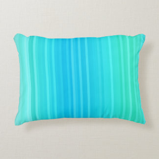 Abstrakte Türkis-blaues Grün-Pastellstreifen Zierkissen