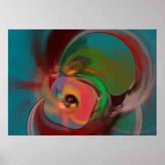 Abstrakte ursprüngliche Digital-Wand-Kunst Poster
