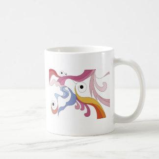 abstrakte Verzierung Kaffeetasse