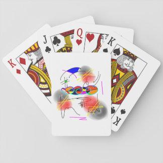 abstrakte Vögel Spielkarte