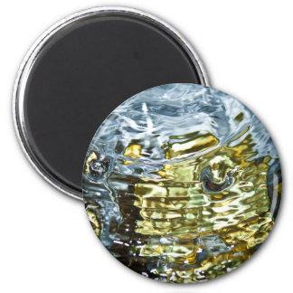 Abstrakte Wasser-Fotografie Runder Magnet 5,1 Cm