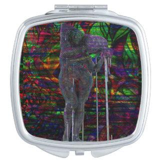 Abstrakte Wassermann-Göttin Taschenspiegel