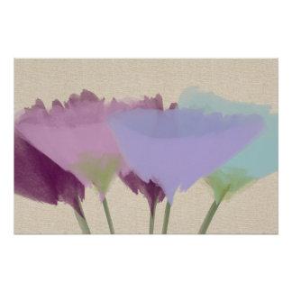 Abstrakte Watercolor-Pfingstrose auf Poster