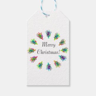 Abstrakte Weihnachtsbaum-Geschenktasche Geschenkanhänger