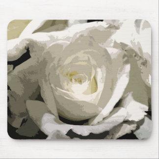 Abstrakte weiße Rose Mousepads