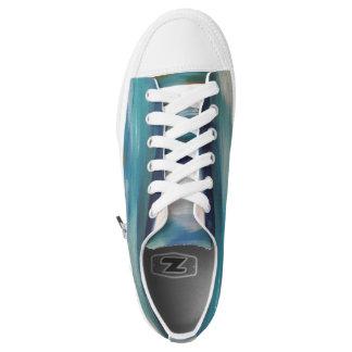 Abstrakte Wellen - die Turnschuhe der Frauen Niedrig-geschnittene Sneaker