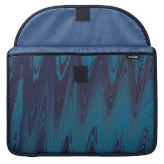 Abstrakte Wellen im Blau Sleeve Für MacBook Pro