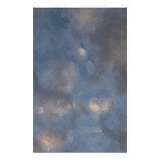 Abstrakte Wolken Briefpapier