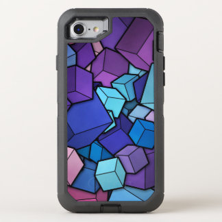 Abstrakte Würfel OtterBox Defender iPhone 8/7 Hülle