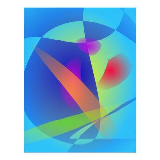 Abstrakte Zusammensetzung hellblau