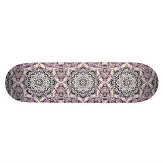Abstrakter achteckiger Mandala Personalisiertes Skateboard