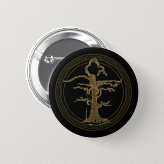 Abstrakter alter verwelkter Baum Brown Runder Button 5,7 Cm