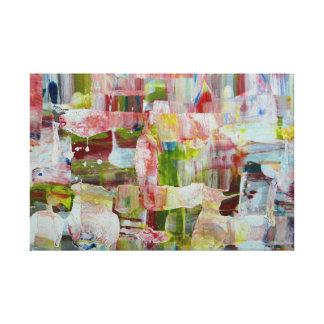 abstrakter Anfang Gespannter Galerie Druck