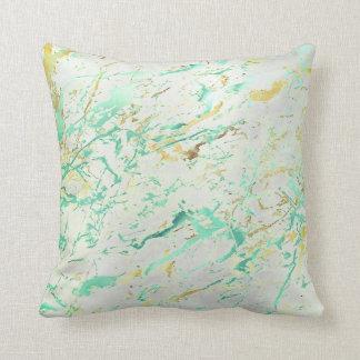 Abstrakter Aqua Tiffany tadelloser Kissen