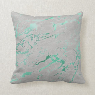 Abstrakter aquamariner grauer grüner kissen