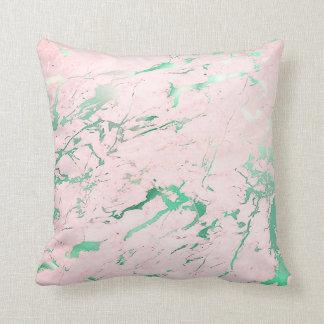 Abstrakter aquamariner rosa kissen