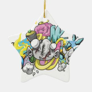 Abstrakter Aufkleber Keramik Ornament