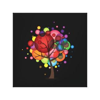 Abstrakter Ballon-Baum eingewickelte Leinwand