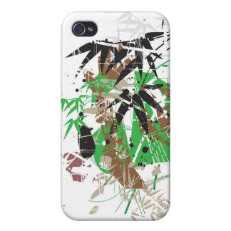 abstrakter Bambusentwurf der tropischen Art Schutzhülle Fürs iPhone 4
