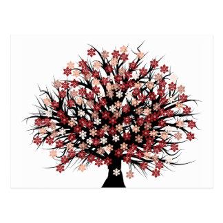 Abstrakter Baum Hugger Postkarte