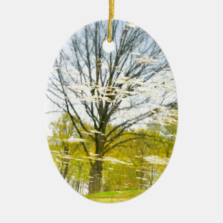 Abstrakter Baum im Herbst Keramik Ornament
