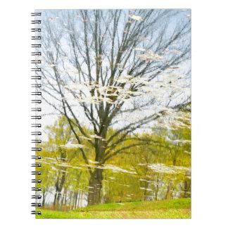 Abstrakter Baum im Herbst Spiral Notizblock