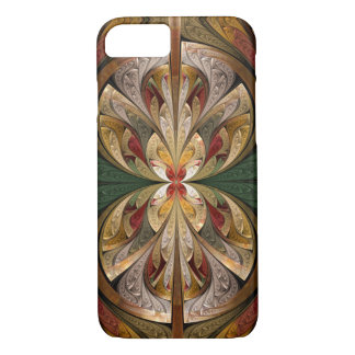 Abstrakter beflecktes Glas-Schmetterlings-Shine iPhone 8/7 Hülle