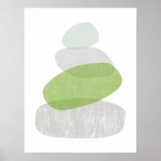 Abstrakter beunruhigter Plakatdruck des Grüns Poster