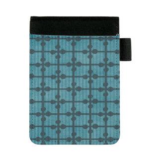 Abstrakter blauer Gitter-Entwurfs-Hintergrund Mini Padfolio