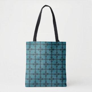 Abstrakter blauer Gitter-Entwurfs-Hintergrund Tasche
